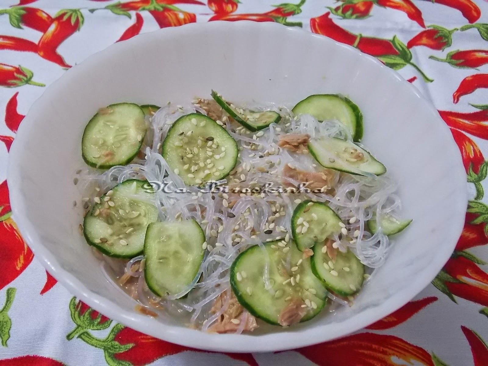 Salada de Harussame com Atum e Pepino