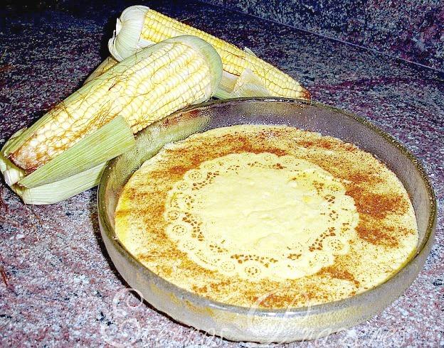 mingau de milho curau com milho verde em lata