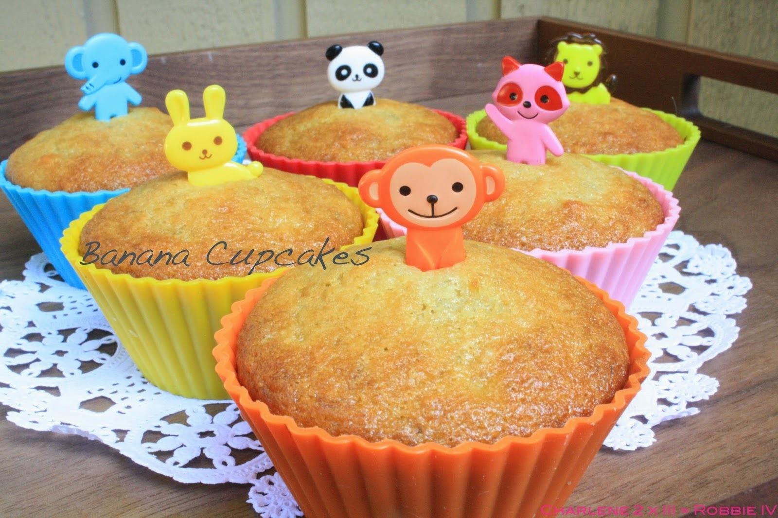 [西式烘焙/幼兒食譜] 香蕉杯子蛋糕,大同電鍋馬誒通!