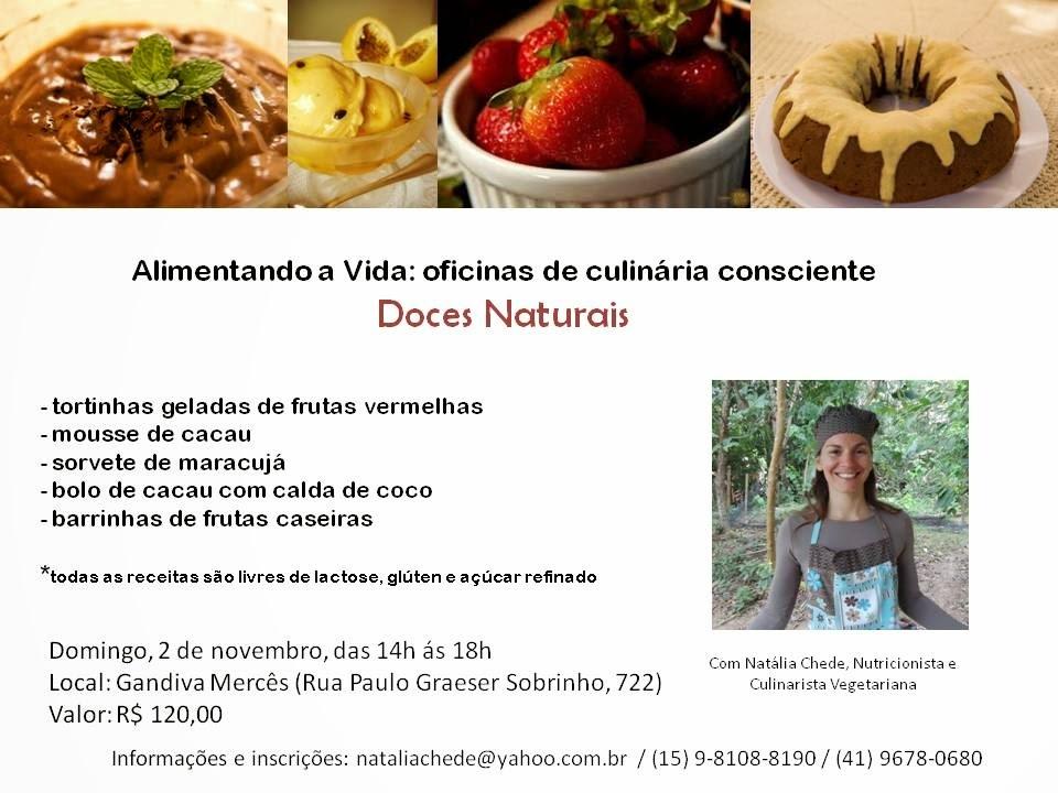 Oficina de alimentação consciente em Curitiba: doces naturais