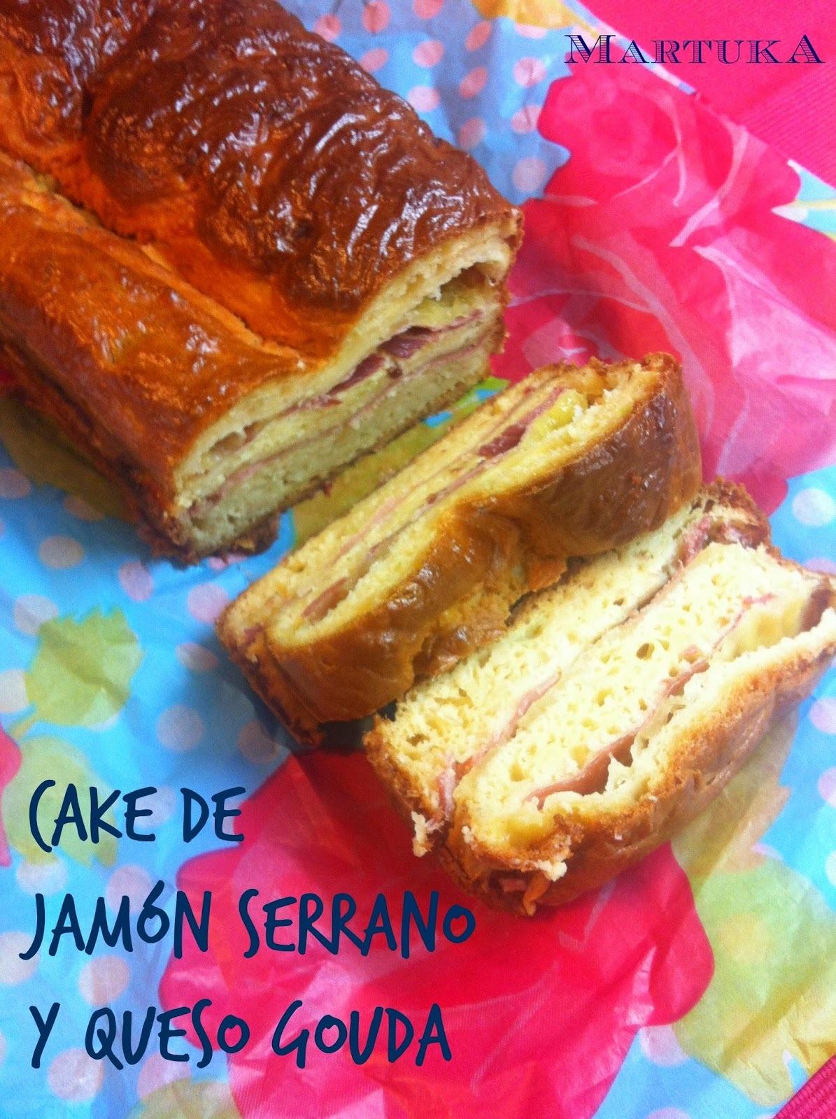 Cake De Jamón Serrano Y Queso Gouda