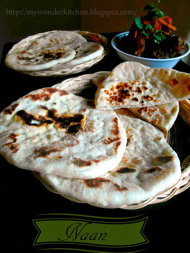 Tawa Naan| A leavened thick flatbread made on a flat pan