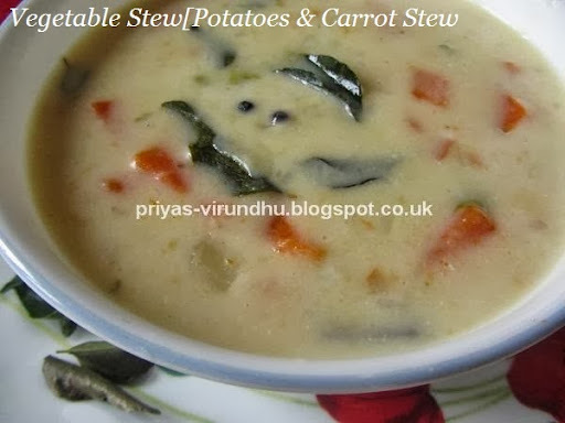 Vegetable Stew/Vegetable Ishtu/Potato & Carrot Stew – Kerala Special