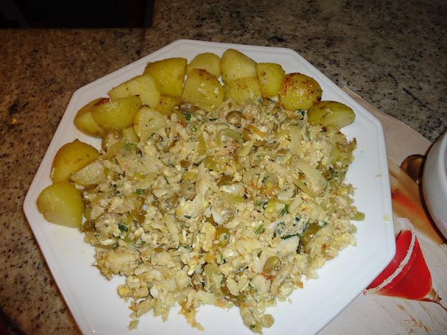 salada de bacalhau que vai ao forno simples