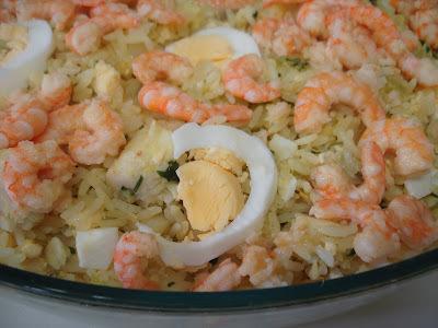 arroz com camarao simples