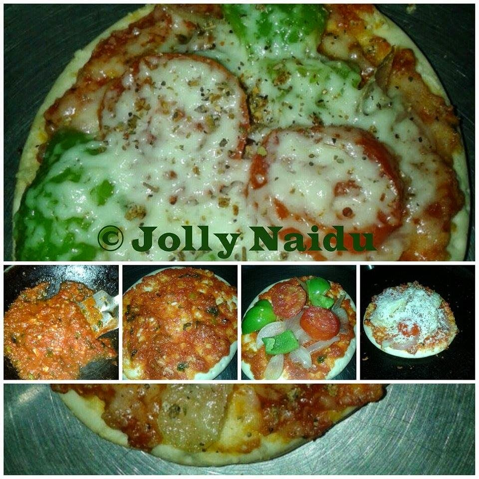 Homemade Tawa Pizza | How to make Vegetable Pizza at Home
