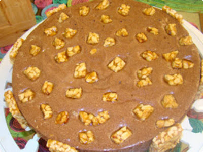 Torta Mousse de Chocolate com Pé de Moleque