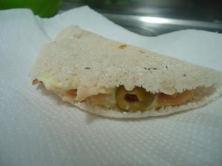 Receita: Tapioca de peito de peru com cream cheese