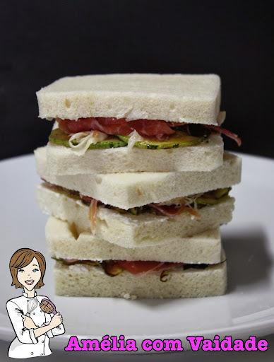 Sanduíche de Presunto Cru e Abobrinha