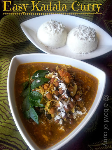 Easy Kadala Curry ~ Easy Black Channa Curry..