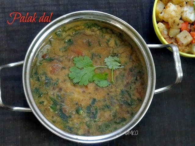 All in one dal /Palak dal/Spinach dal