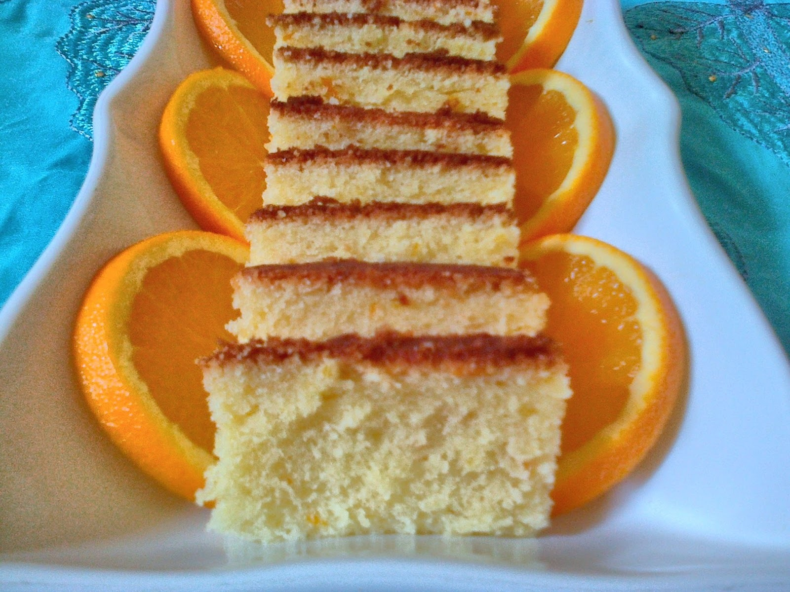 Butter Cake With Orange Flavour/1st Blog Anniversary