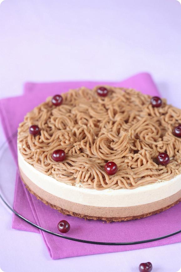 Каштановый торт со взбитыми сливками / Torta mousse de castanha portuguesa com chantilly