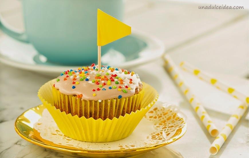 Cupcakes de Plátano muy esponjosos!!!