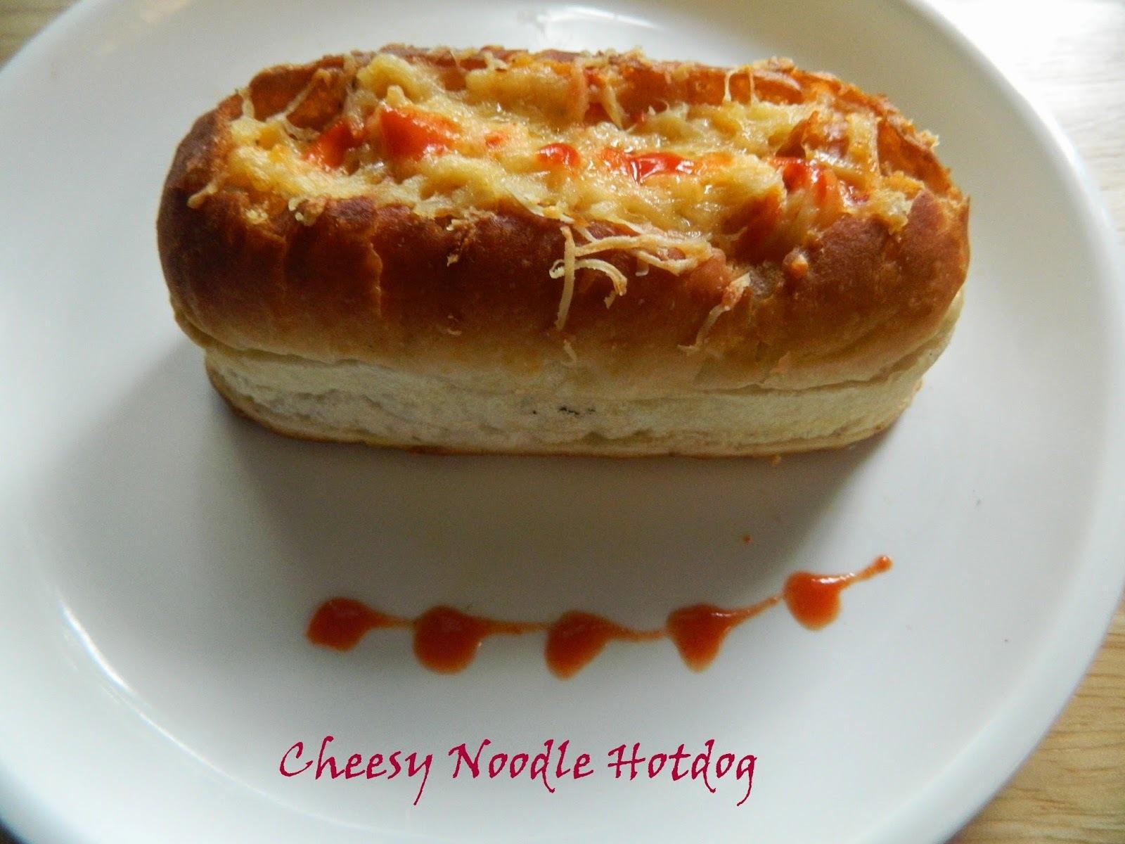 Cheesy Noodle stuffed Hotdog