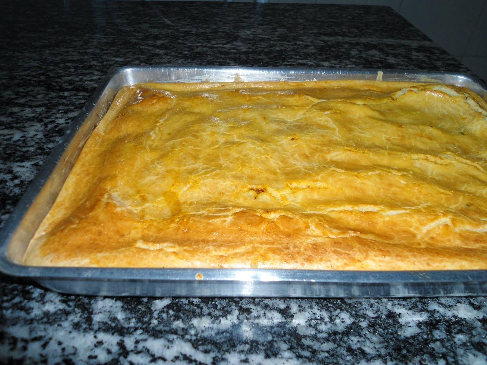 Torta de liquidificador recheio de frango