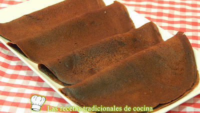 Receta fácil de crepes de chocolate