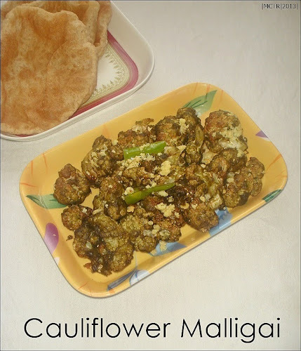 Cauliflower Malligai | Cauliflower maligai