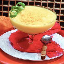 Sorvete de manga com limão