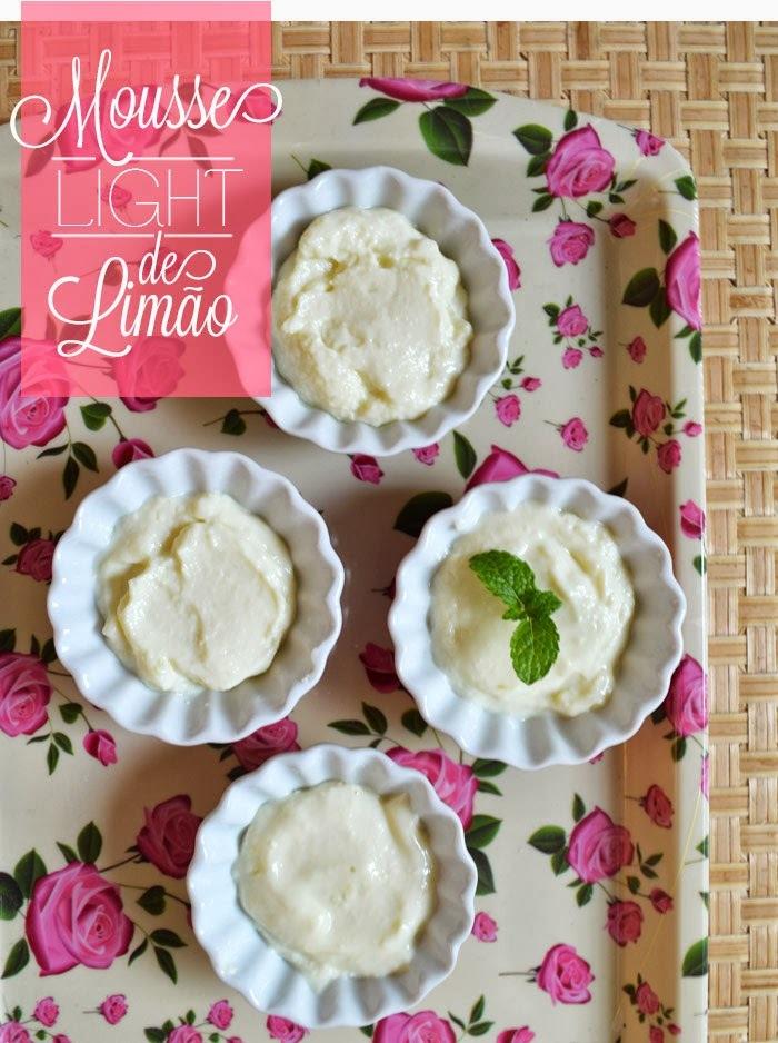 {cozinha fit e preguiçosa} Mousse light de limão