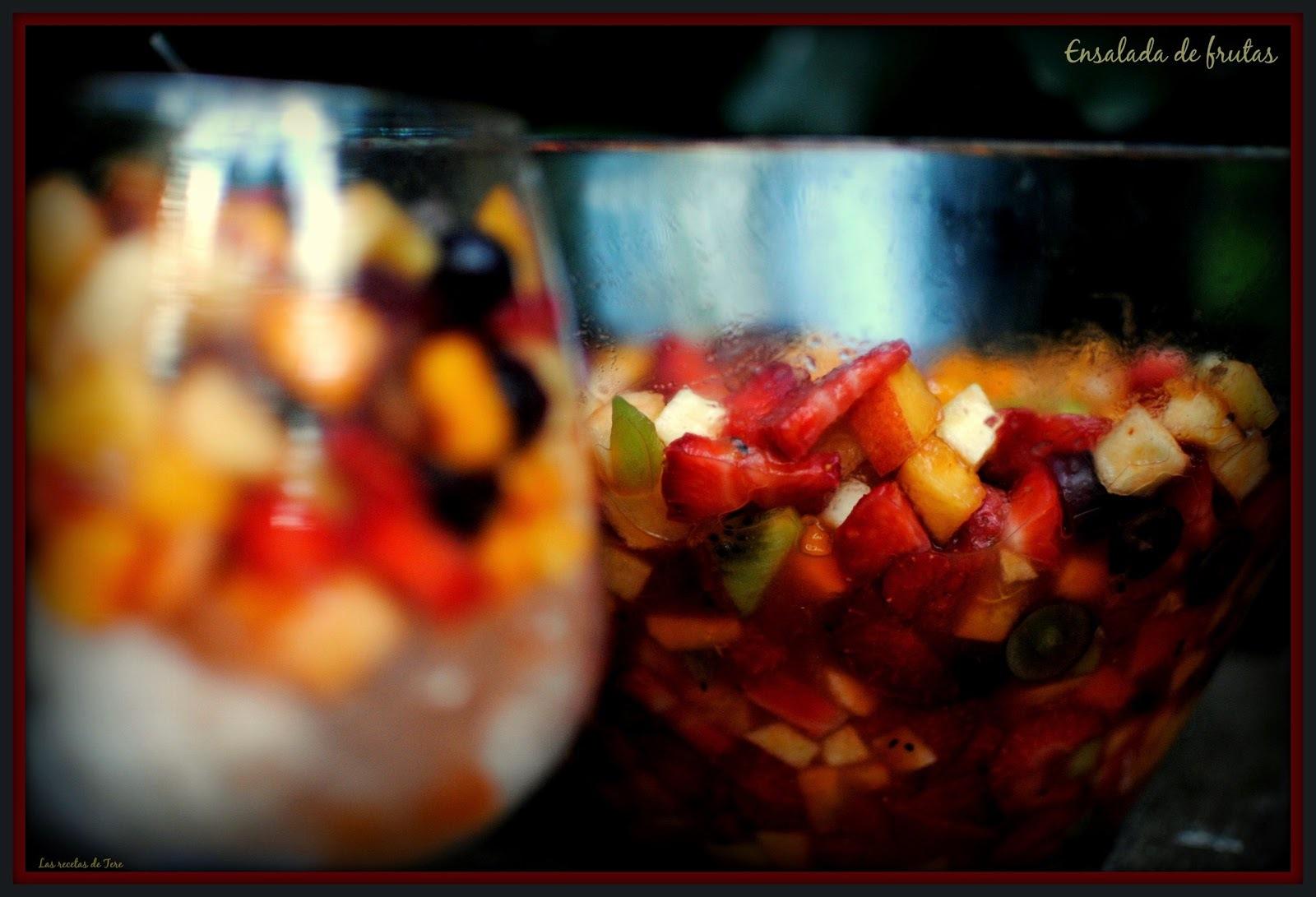Exquisita ensalada de frutas.