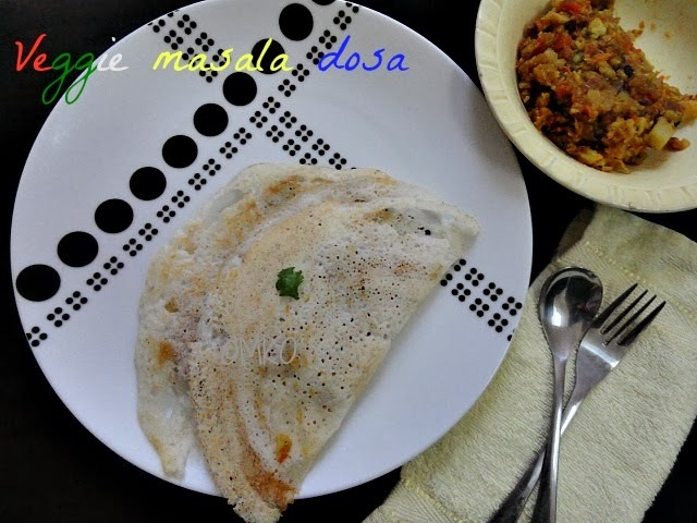 Vegetable Masala dosa/Dosa recipes/Southindian dosas