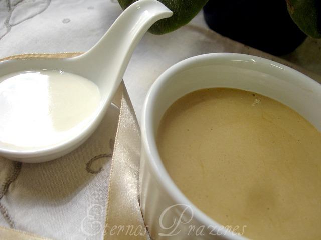 Mousse de doce de leite com calda de requeijão e o ganhador do sorteio Tirolez