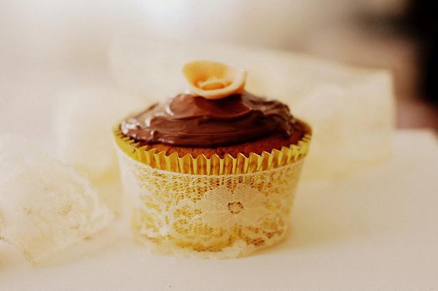 Cupcakes de cenoura com Chocolate