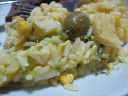 risoto de arroz aproveitado