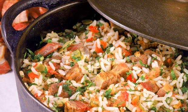 como fazer arroz carreteiro com carne de gado