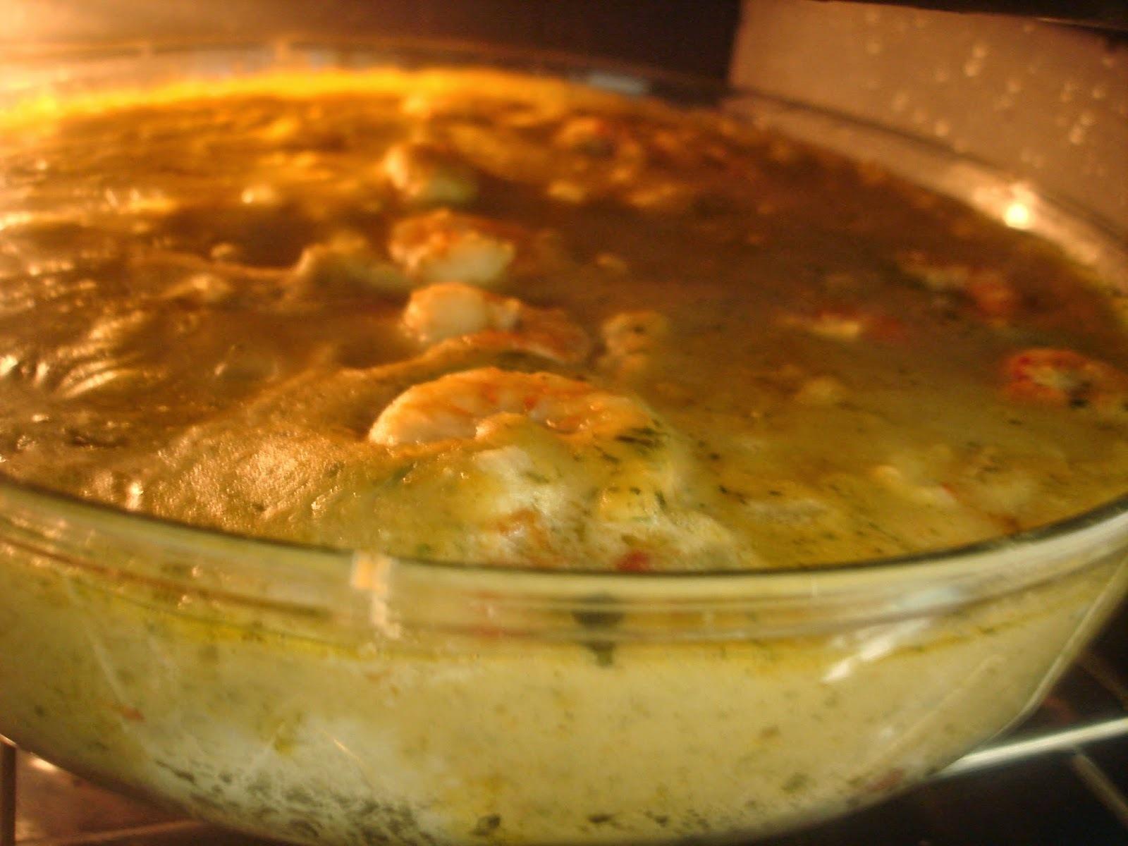 Creme ao forno: Camarão, Peixe e Purê (Aipim/Macaxeira/Mandioca) - em um só prato - é para surpreender!