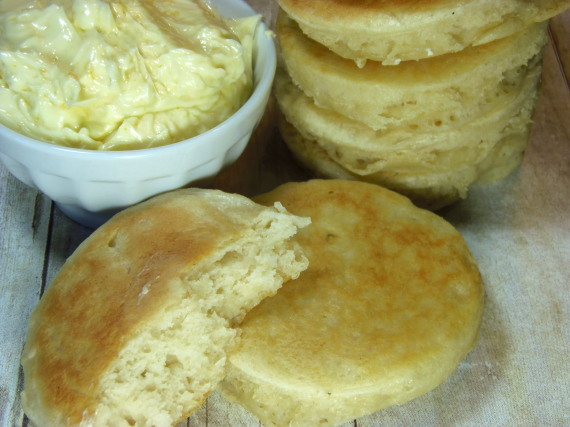 Crumpets With Whipped Orange Honey Butter
