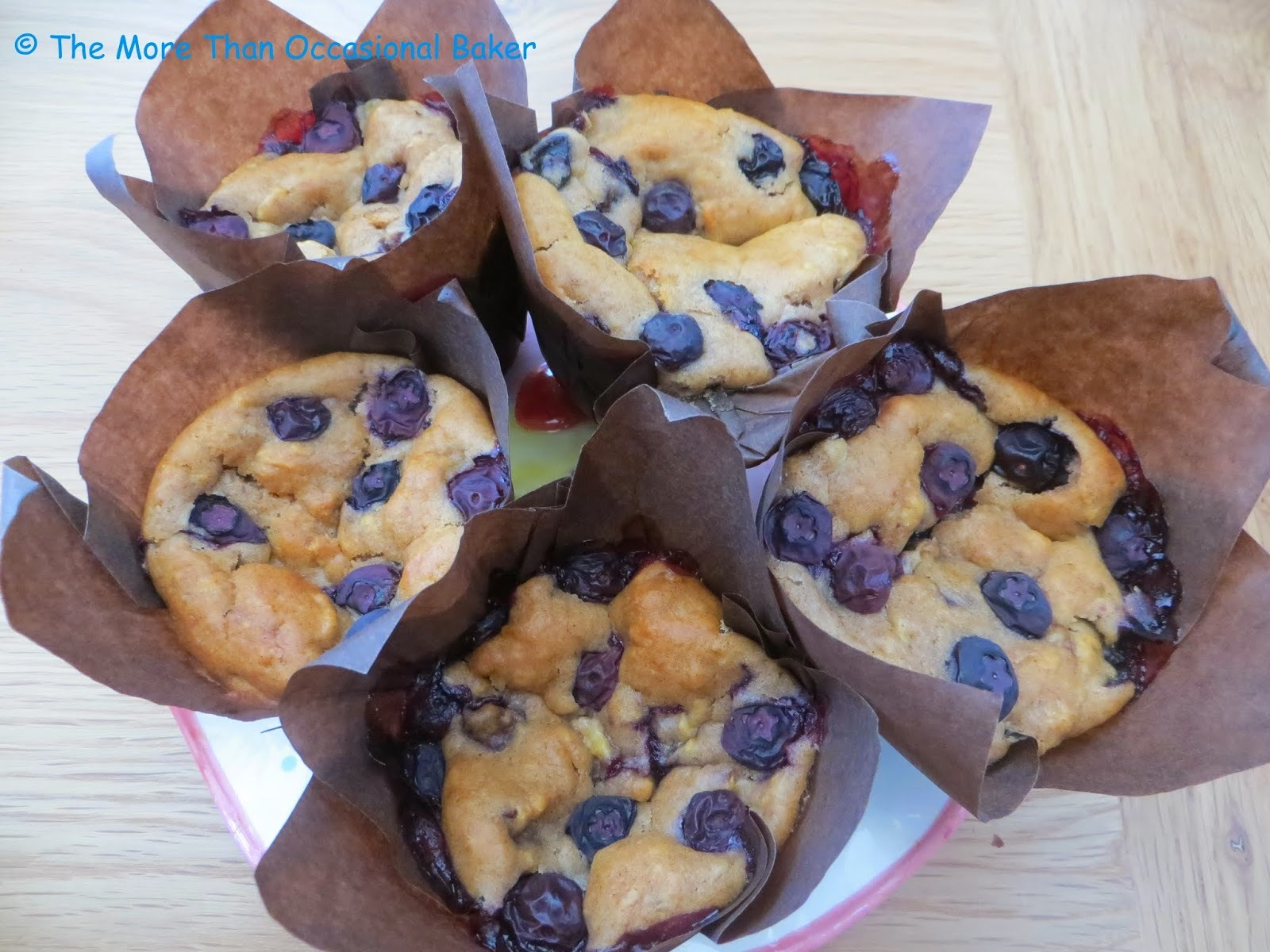 Banana, blueberry and apple muffins