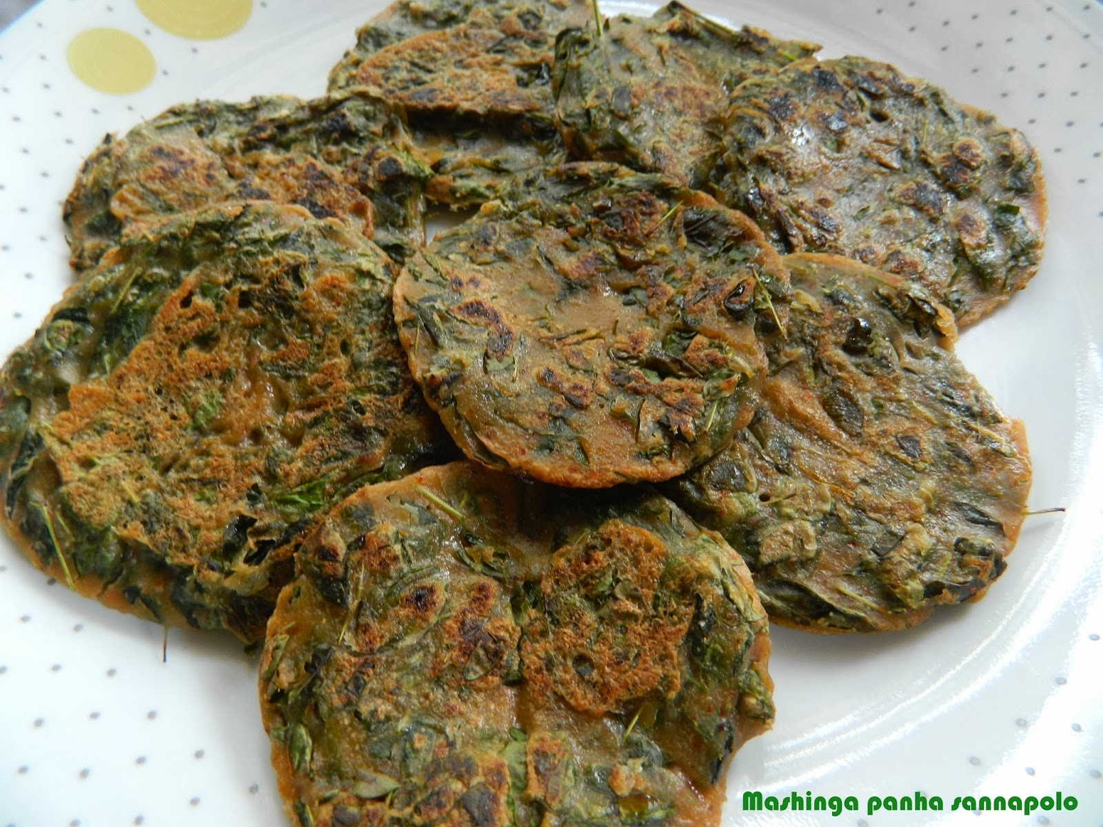 Spicy drumstick leaves dosa/ Mashinga Panha sannapolo