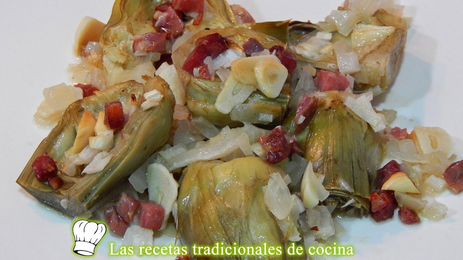 Receta fácil de alcachofas al horno con jamón