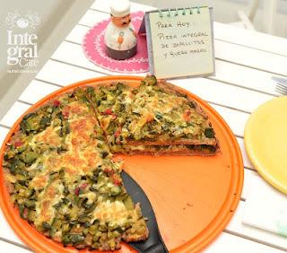 Pizza Integral de vegetales
