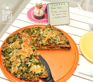 Pizza Integral de vegetales