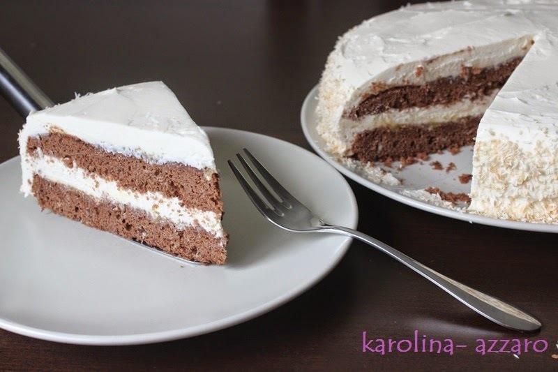 Čokoládová torta s kokosovým krémom z Mascarpone
