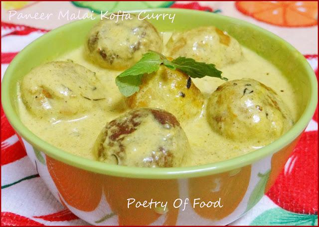 Paneer Malai Kofta Curry...!! Cheese Balls In Creamy Gravy..!!