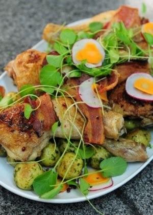 frango com batata e agrião