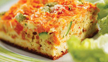 Torta saudável de legumes