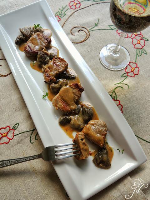 svinjski biftek u umaku od gljiva