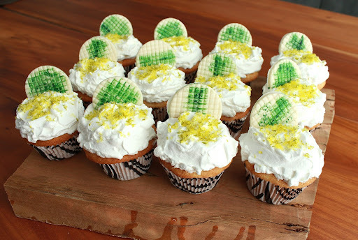 cobertura de cupcake com glaçúcar