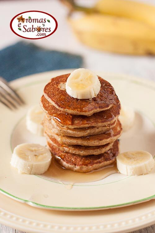 Panquecas de banana funcionais - e ainda sem glúten e sem lactose