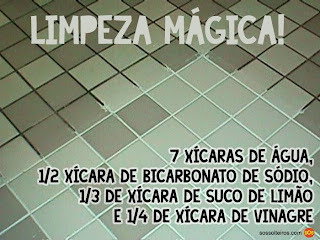 VINAGRE E BICARBONATO FAZEM MILAGRES...