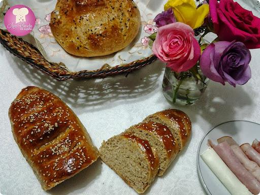 farinha de feijão branco pão