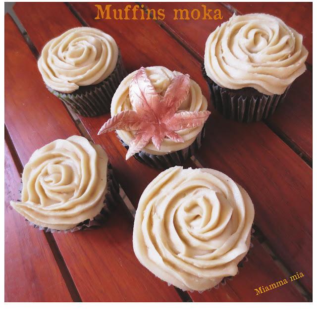 Muffins moka et décoration en pâte à sucre