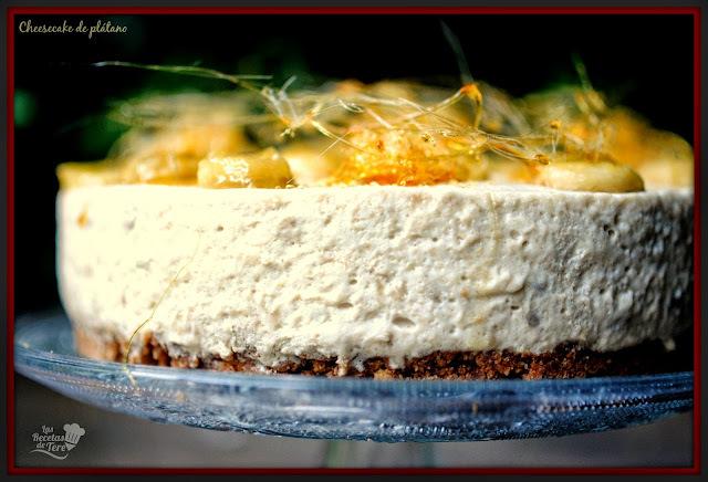 Cheesecake de plátano y caramelo.