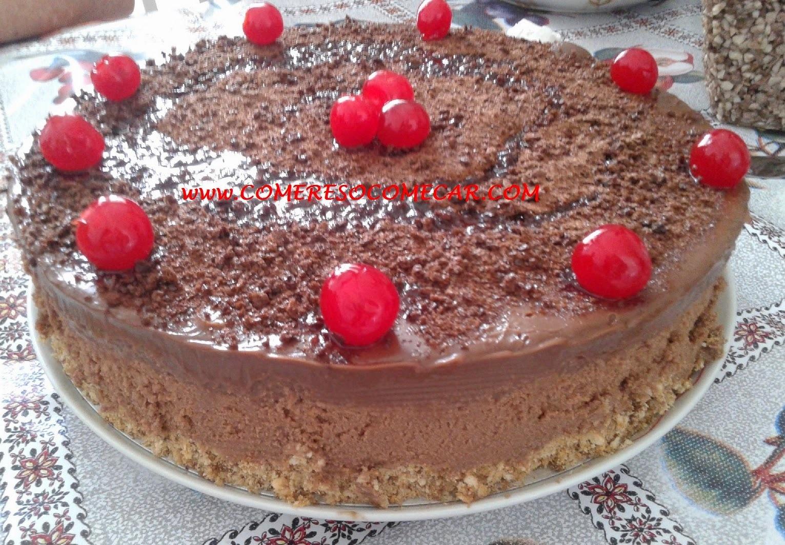 TORTA MOUSSE E TRUFA DE CHOCOLATE