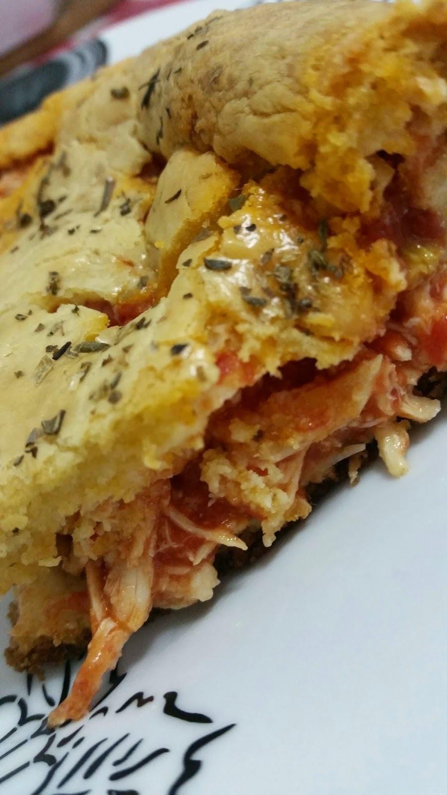 Torta de Frango com Tomate Pelati